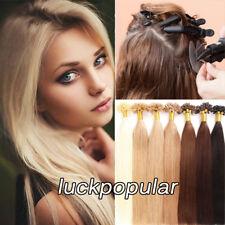 Pre композиционной волосы для наращивания кератин U наконечник реальные неповрежденные человеческие волосы, шелковистый, прямой 100S