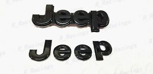 Custom Gloss Black Front & Rear EMBLEM BADGE For 2014-2020 Jeep Grand Cherokee