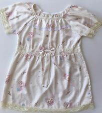 Dreaming Bear Xl Sleep Wear Set White Lace Short Sleeve