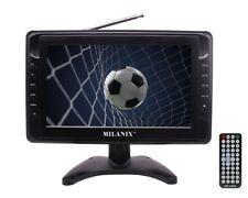 """Milanix 10"""" Portable Widescreen LCD TV w/ Digital TV Tuner & USB, SD Slot & AV"""