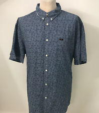 LEE Mens Floral Shirt Blue Size 4XL XXXXL BNWT
