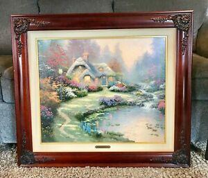 Thomas Kinkade Everett's Cottage Framed Canvas 20 x 24 SN 3277 of 5950 w/COA