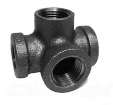 """1/2"""" INCH SIDE OUTLET TEE BLACK MALLEABLE IRON PIPE FITTINGS THREADED - P7375"""