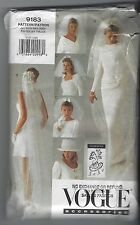 VOGUE 9183 VOGUE ACCESSORIES BRIDAL VEILS & HAT SEWING PATTERN WEDDING VEILS