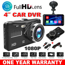 "1080P Front and Rear 4"" Touch FHD Car Dashboard Dash Camera 170° DVR Recorder AU"