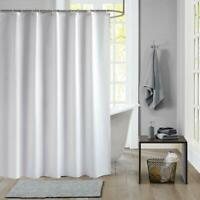 Waterproof Mildew Resistant Home Bathroom Shower Curtain Divider Drape with Ring