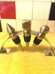 Barcraft - Bottle Stoppers on Stand - Polished Stainless Steel - Drinks Trolley