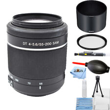 Sony 55-200mm f/4.0-5.6 DT Alpha A-Mount Telephoto Zoom Lens STARTER KIT NEW