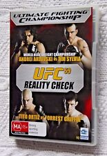 UFC 59 REALITY CHECK (DVD) R-4, LIKE NEW, FREE SHIPPING WITHI NAUSTRALIA