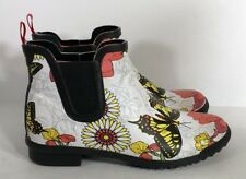 Womens Cougar Regent Iris Butterfly Floral Ankle Rain Boots Size 7