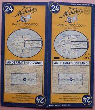 #) D - carte MICHELIN 24 ANDERMATT - BOLZANO 1952