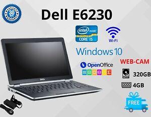 """Dell E6230 INTEL CORE i5-3RD GEN,12.5"""" HDD:320GB RAM:4GB WIN 10 WEBCAM WIFI HDMI"""