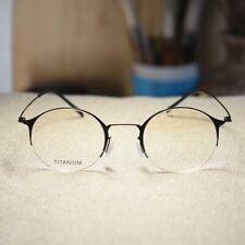 Black Titanium Round Steve Jobs Glasses mens RX optical Eyeglasses eyewear