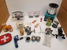 Mixed lot of Fishing Line, Spinning Reels, Parts, Fishing lure, Rebel Minnow Flo
