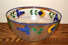 Dansk San Nicolo Glass Serving Bowl Floral
