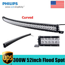 "Curved 52"" inch 300W LED Light Slim Bar COMBO Offroad Toyota Truck JEEP 6000K 53"