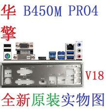 New ASROCK io shield B450M PRO4 plate io shield #GR33 XH