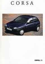 OPEL CORSA B City Eco Swing Joy CDX Sport GSi Prospekt Brochure 1995 87