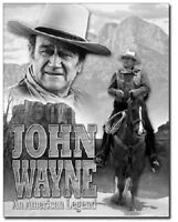 John Wayne American Legend Western Cowboy Hollywood Decor Metal Tin Sign #1748