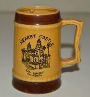 Vintage Small HEARST CASTLE Ceramic Beer Stein Shaped Shot Glass San Simeon CA