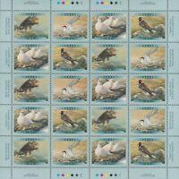 EAGLE = TERN = PTARMIGAN = Bird =Full Sheet of 20 stamps Canada 2001#1886-89 MNH