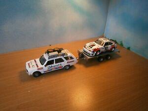 1/43 LOT ALMERAS RALLYE PEUGEOT ASSISTANCE REMORQUE PORSCHE 911 TOUR AUTO 1977
