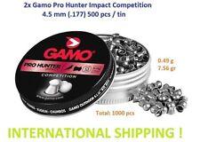 2x GAMO PRO HUNTER IMPACT COMPETITION 4.5 mm cal. .177 500 pcs. Airgun pellets