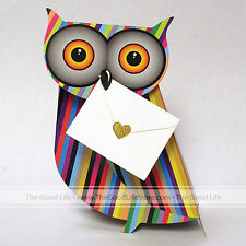 """3D Special Delivery Greeting Card - Owl """"Barney"""" - #SD-080"""