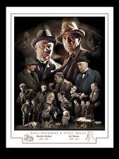 BASIL RATHBONE & NIGEL BRUCE - Sherlock Holmes & Dr. Watson  -  MONTAGE PRINT