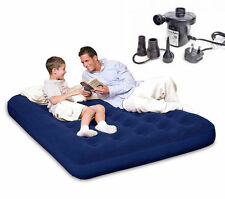 NEW BESTWAY Double Blow Up Inflatable Bed with Electric Pump and Carry Bag
