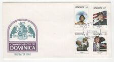 1988 DOMINICA First Day Cover ENTERTAINERS Roseau