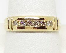 New Men's 14k Solid Yellow Gold .37ct Natural Diamond Ring Wedding Band