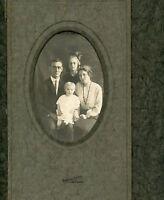 Antique Photo in Folder - Hamilton, Montana Family of 4, Johnson's Studio