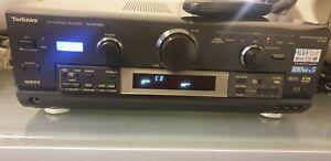 techniccs av amplifier sa dx1050 tuner + phono stage / 500w dvd audio hifi amp
