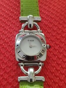 Gucci 6300L Women's Watch  Open Band Stainless Steel New Battery