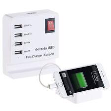 revolt USB-Netzteil mit Smartphone-Ablage, 4 Ports: 2x 2,1 A, 2x 1 A