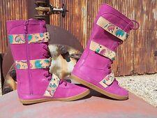 New Womens UGG Johnna Graffiti Sugar Plum US 7 UK 5.5 EU 38 Lace Up tall Boots