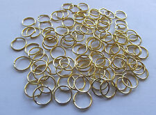 Gold Colored Jump Rings. 4mm Approx. 100 Pieces.