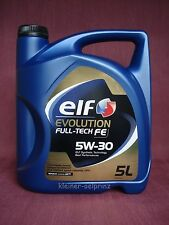 Elf Evolution Full-Tech FE 5w-30 ACEITE DE MOTOR SEGUIDOR para SOLARIS / DPF 5L