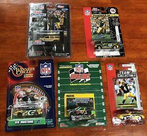 Lot Of 5 Green Bay Packers Die Cast Trucks & Cars Brett Favre Cards Toy Boy Girl