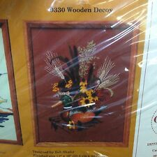 The Creative Circle Crewel Embroidery Kit 0330 Wooden Decoy Duck Cattails Sealed