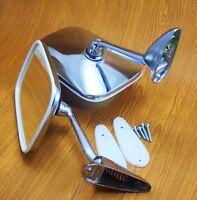 Peugeot 104 202 203 204 402 Chrome Fender Door Pair LH RH Mirror Screw Move