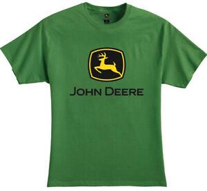 NEW John Deere Green T-Shirt Black and Yellow Logo Sizes S M L XL 2X 3X