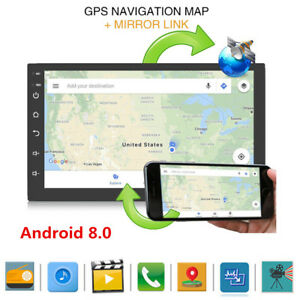 Android 8.0 7inch 2 DIN Car GPS Bluetooth Stereo Radio FM MP3 MP5 Player HD WIFI
