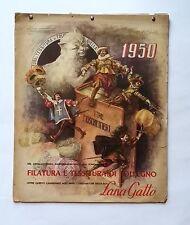Calendario 1950 anniversario Lana Gatto (i tre moschettieri) (A)