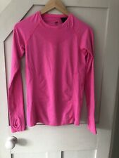 H&m Sport Womens Long Sleeve Activewear Gym Top Size S Neon Pink Marl