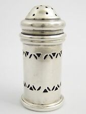 Vintage 1973 Hallmarked Sterling  Silver Condiment Blue Glass Shaker  LAYBY
