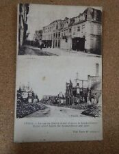 WW1 Ypres before and after shelling ,soldier message Censor stamp  . XC2