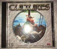 """RARE 2001 """"Cultures"""" Funatics PC CD-Rom Game Mint Disc in Case!"""