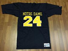 MENS LARGE - Vtg NCAA Notre Dame Fighting Irish #24 Champion Printed Jersey USA